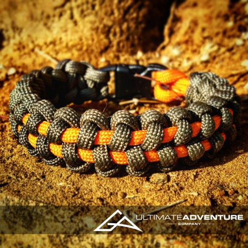 OD Green and Orange TyreTrax Paracord Survival Bracelet