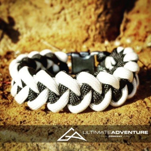 White and Black Jawbone Paracord Survival Bracelet
