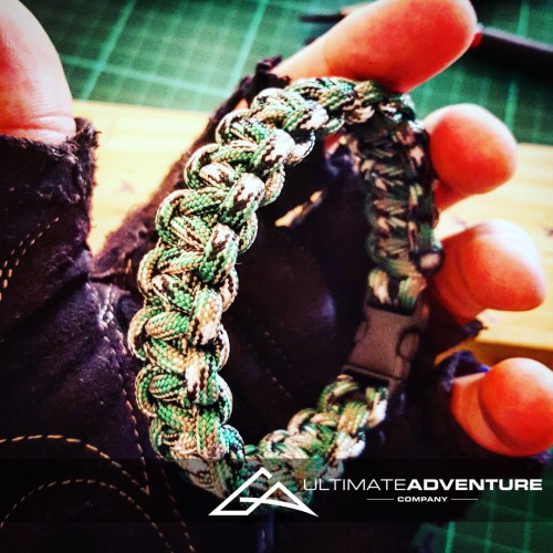 Grass Green Camo Paracord Survival Bracelet