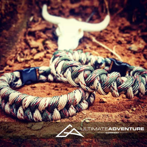 Special Forces Switchback & Cyclone Paracord Bracelet Set with Skull