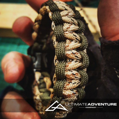 OD Green and Desert Camo Paracord Survival Bracelet