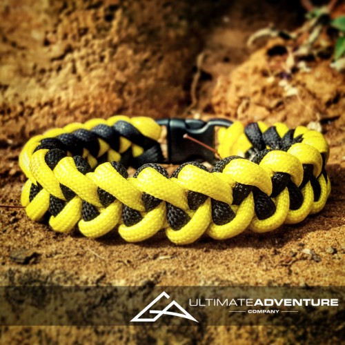 Yellow and Black Jawbone Paracord Survival Bracelet