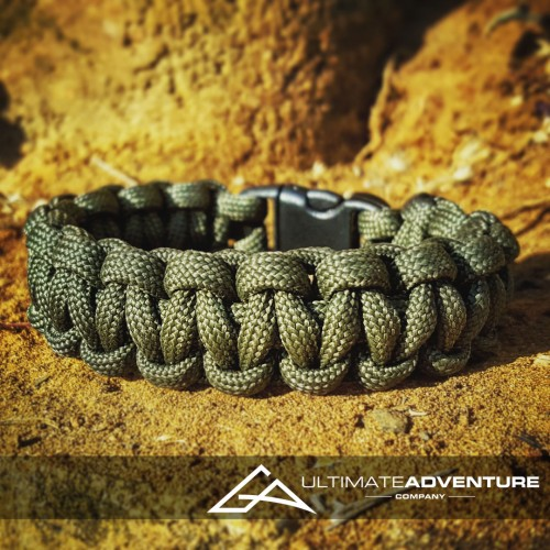 OD Green Paracord Survival Bracelet
