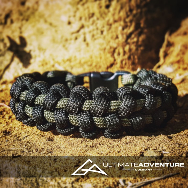 Black and OD Green TyreTrax Paracord Survival Bracelet