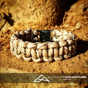 Desert Camo Paracord Survival Bracelet