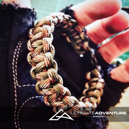 Jungle Green Camo Paracord Survival Bracelet