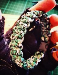 EDC Gear, Grass Green Camo Paracord Survival Bracelet, Fathers Day Gift