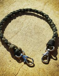 EDC Gear, OD Green & Black Paracord Keychain, Paracord Lanyard
