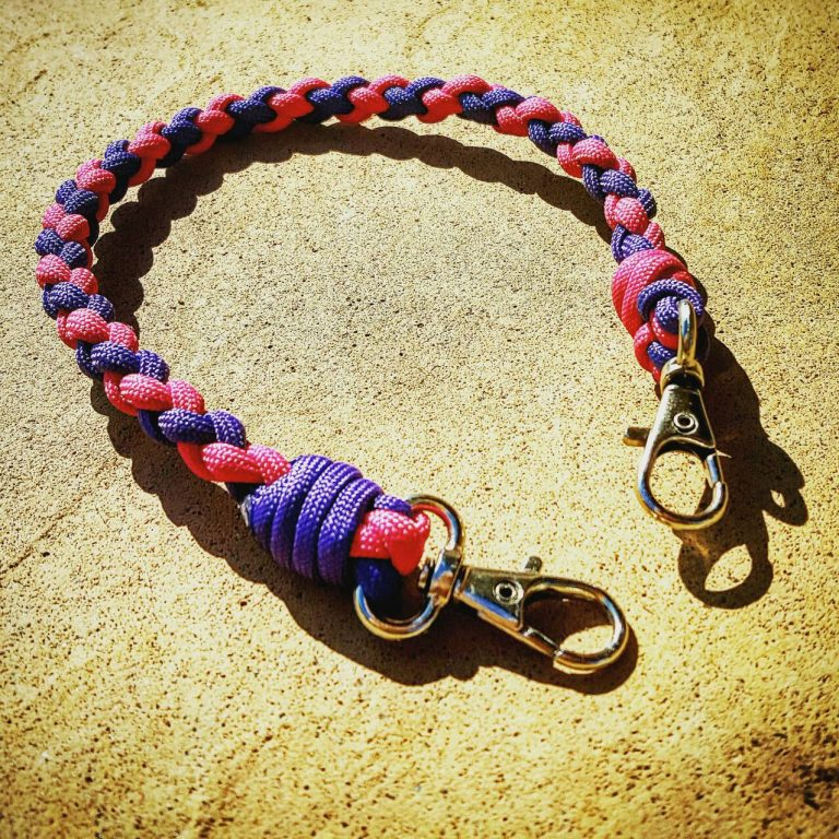 EDC Gear, Pink and Purple Paracord Keychain, Paracord Lanyard
