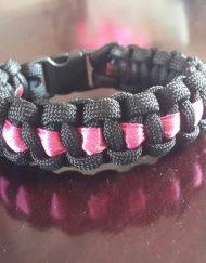 Ladies Ribbon Paracord Bracelet
