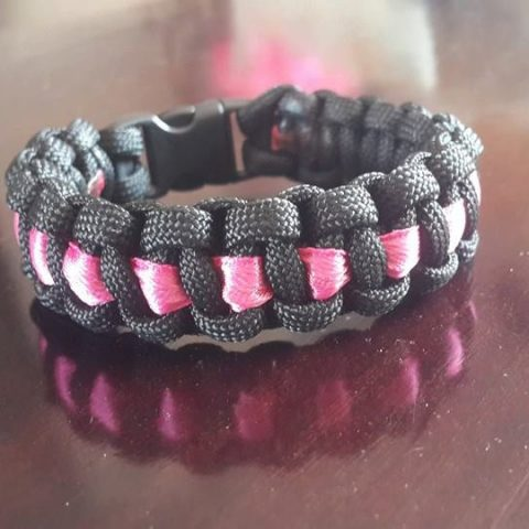 Ladies Ribbon Paracord Bracelet