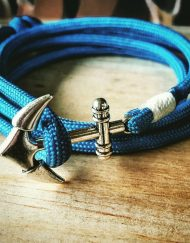 Sky Blue Paracord Anchor Bracelet Nautical EDC Every Day Carry, Anklet